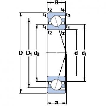 15 mm x 28 mm x 7 mm  SKF 71902 ACD/P4A angular contact ball bearings