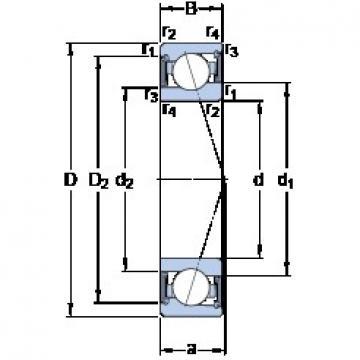 95 mm x 130 mm x 18 mm  SKF S71919 ACE/P4A angular contact ball bearings