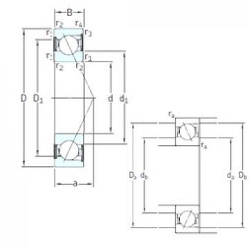 55 mm x 100 mm x 21 mm  SKF SS7211 ACD/P4A angular contact ball bearings