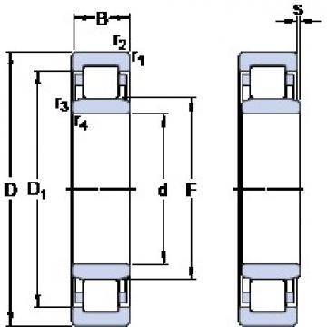 50 mm x 90 mm x 23 mm  SKF NU 2210 ECM thrust ball bearings