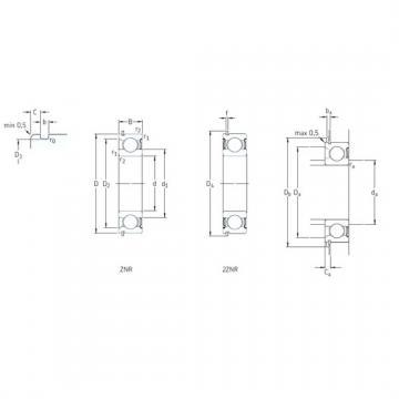 70 mm x 125 mm x 24 mm  SKF 214-2ZNR deep groove ball bearings