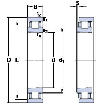 100 mm x 150 mm x 24 mm  SKF N 1020 KTN9/SP cylindrical roller bearings