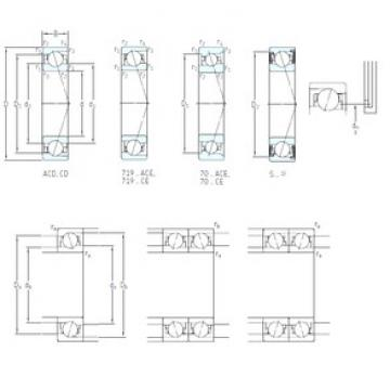 12 mm x 28 mm x 8 mm  SKF S7001 CD/P4A angular contact ball bearings